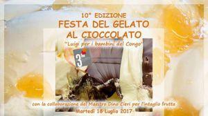 Festa gelato al cioccolato