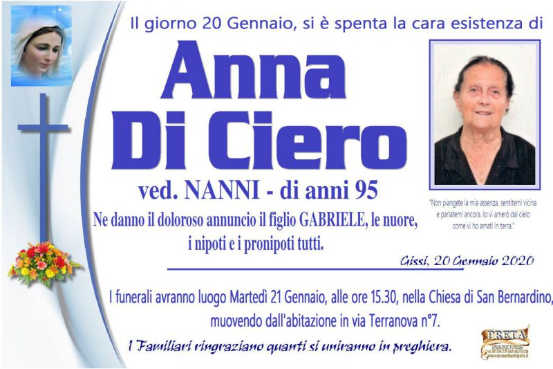 Anna Di Ciero 20/01/2020