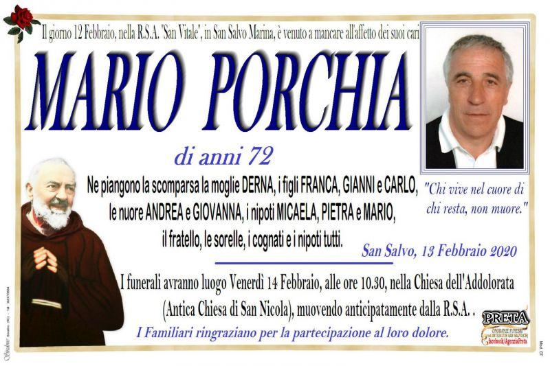 Mario Porchia 12/02/2020