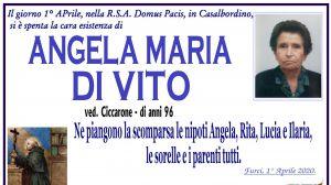 Angela Maria Di Vito 1/04/2020