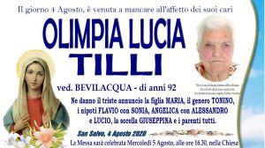 Olimpia Lucia Tilli 4/08/2020