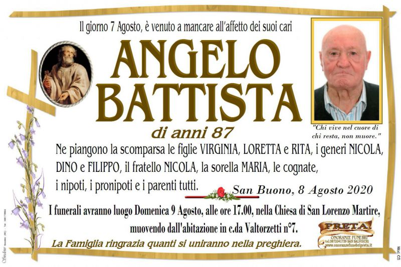 Angelo Battista 7/08/2020