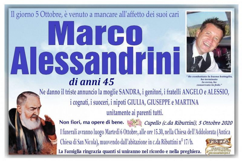 Marco Alessandrini 5/10/2020