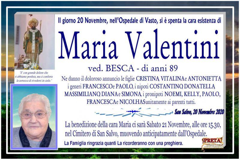 Maria Valentini 20/11/2020