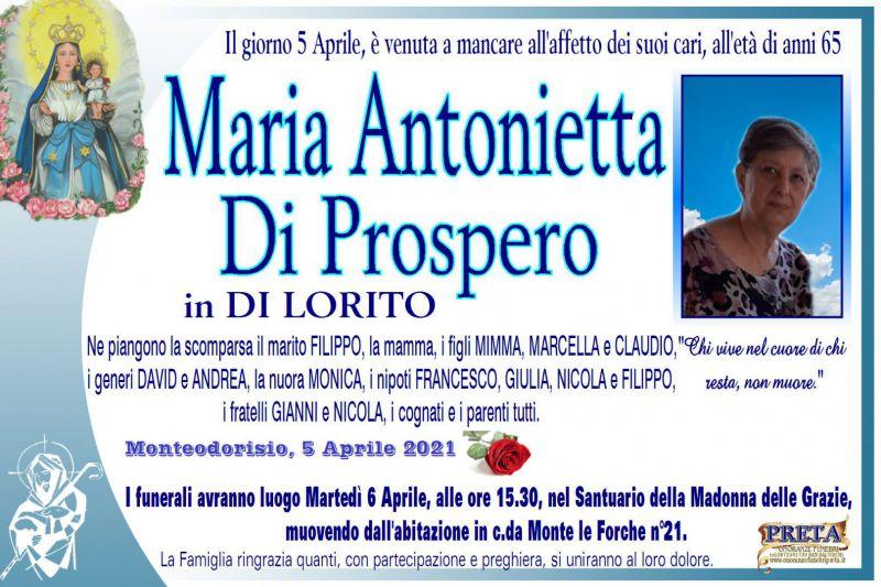 Maria Antonietta Di Prospero 5/04/2021