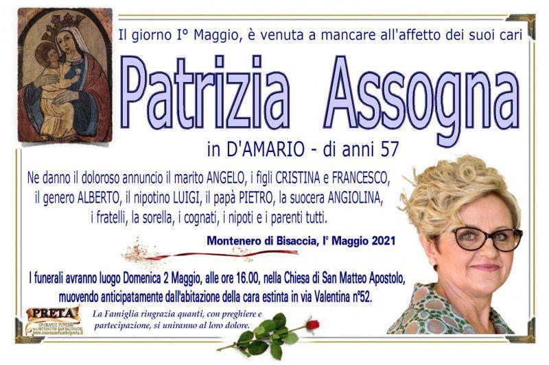 Patrizia Assogna 1/05/2021