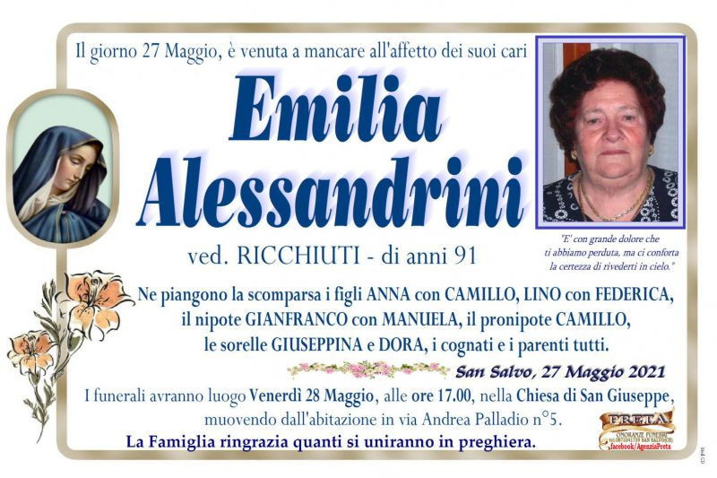 Emilia Alessandrini 27/05/2021