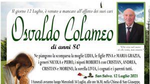 Osvaldo Colameo 12/07/2021