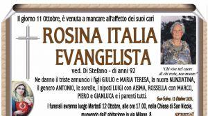 Rosina Italia Evangelista 11/10/2021