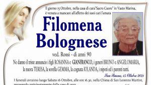 Filomena Bolognese 15/10/2021