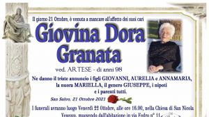 Giovina Dora Granata 21/10/2021