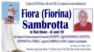 Fiora (Fiorina) Sambrotta 22/10/2021
