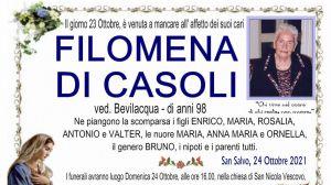 Filomena Di Casoli 23/10/2021